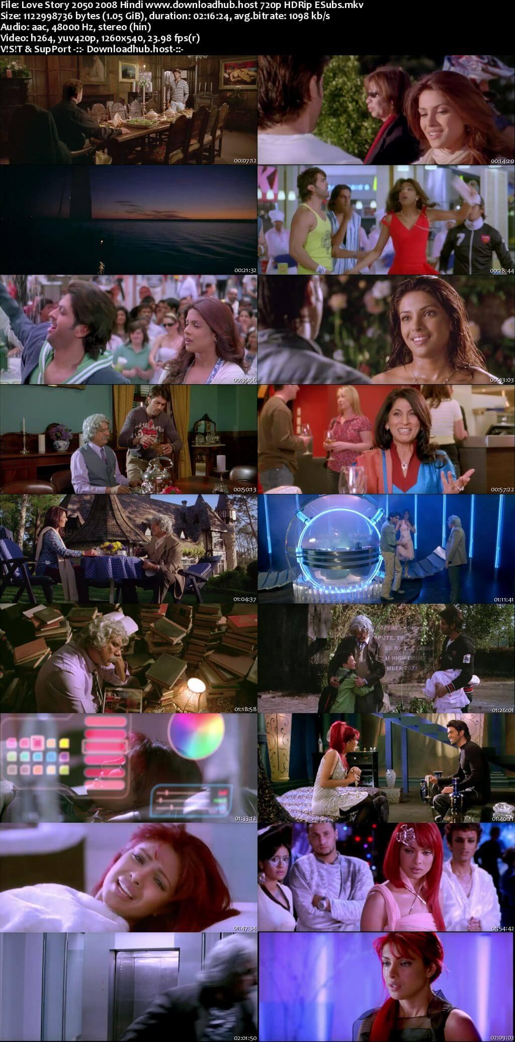 Love Story 2050 2008 Hindi 720p HDRip ESubs