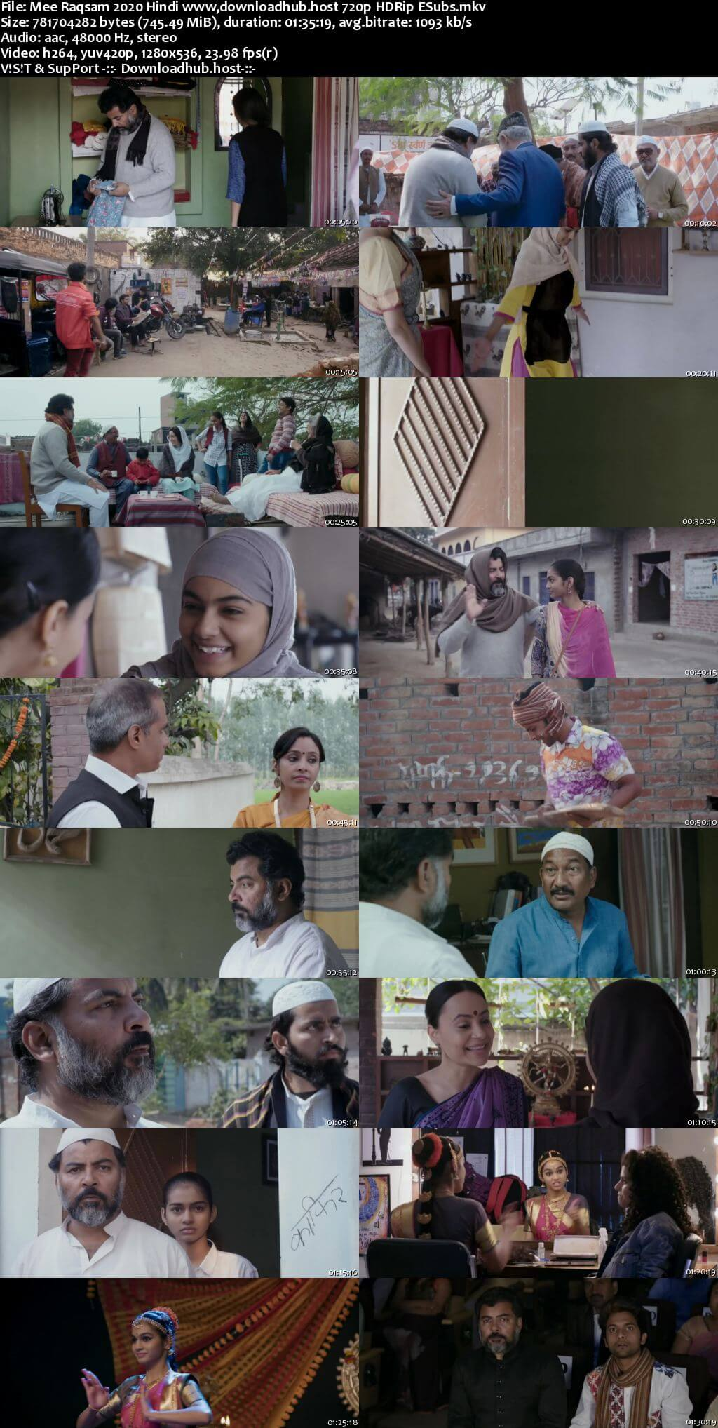 Mee Raqsam 2020 Hindi 720p HDRip ESubs