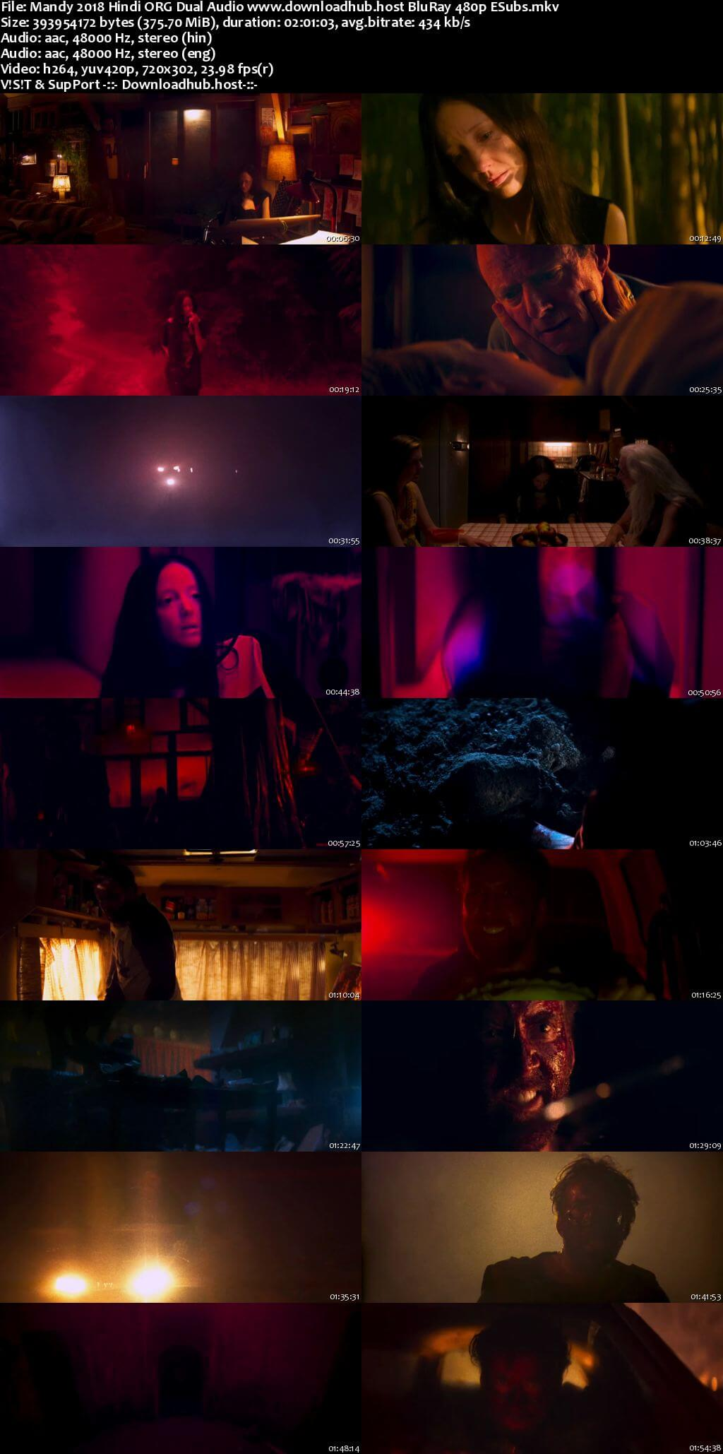 Mandy 2018 Hindi ORG Dual Audio 350MB BluRay 480p ESubs