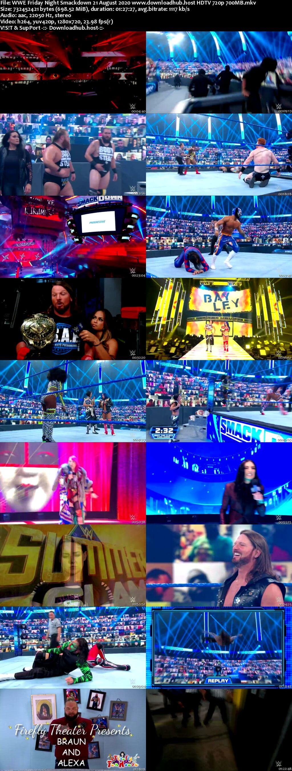 WWE Friday Night Smackdown 21st August 2020 720p 300MB HDTV 480p