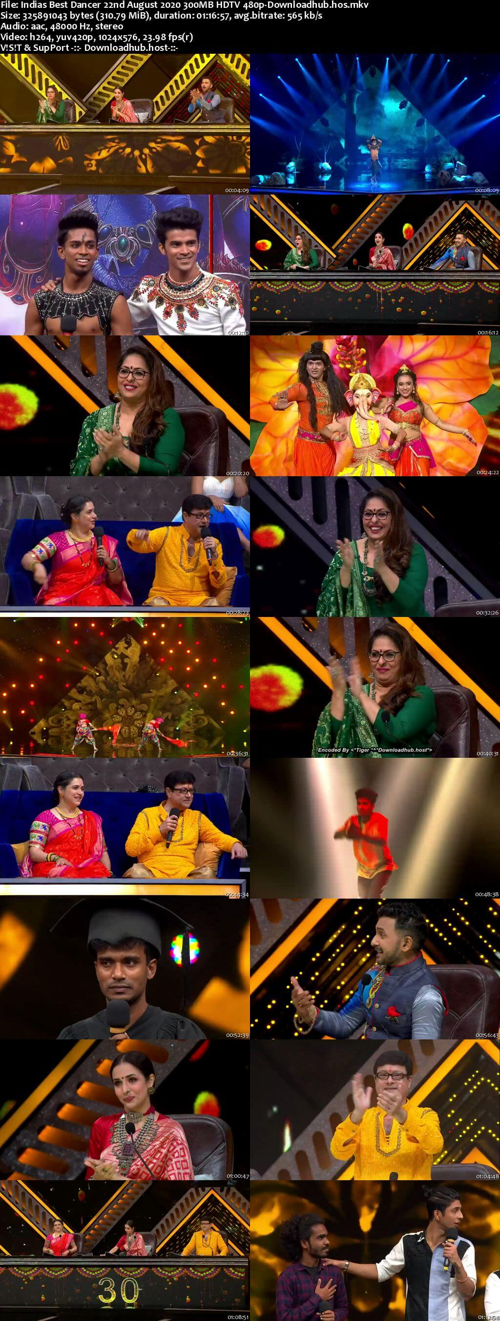 Indias Best Dancer 22 August 2020 Episode 21 HDTV 480p