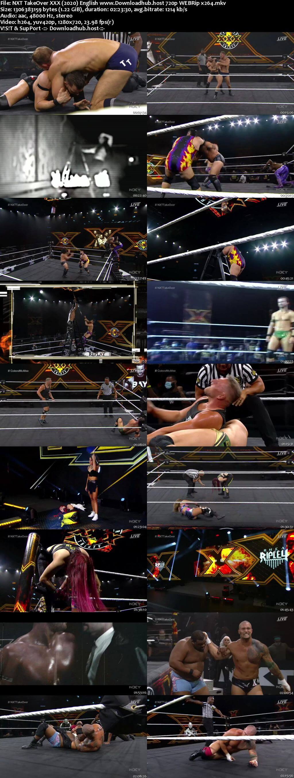 WWE NXT TakeOver XXX 22nd August 2020 720p 600MB PPV WEBRip 480p