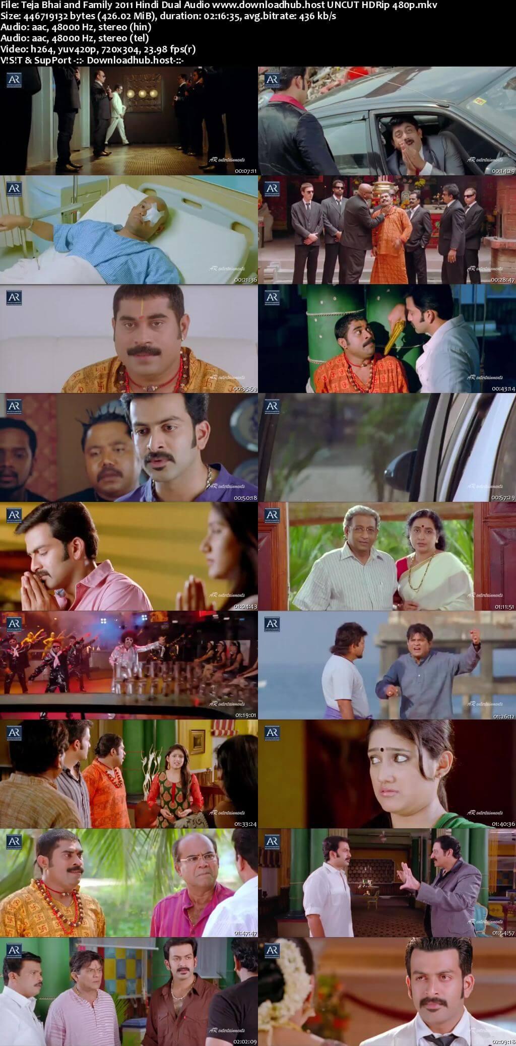Teja Bhai and Family 2011 Hindi Dual Audio 400MB UNCUT HDRip 480p