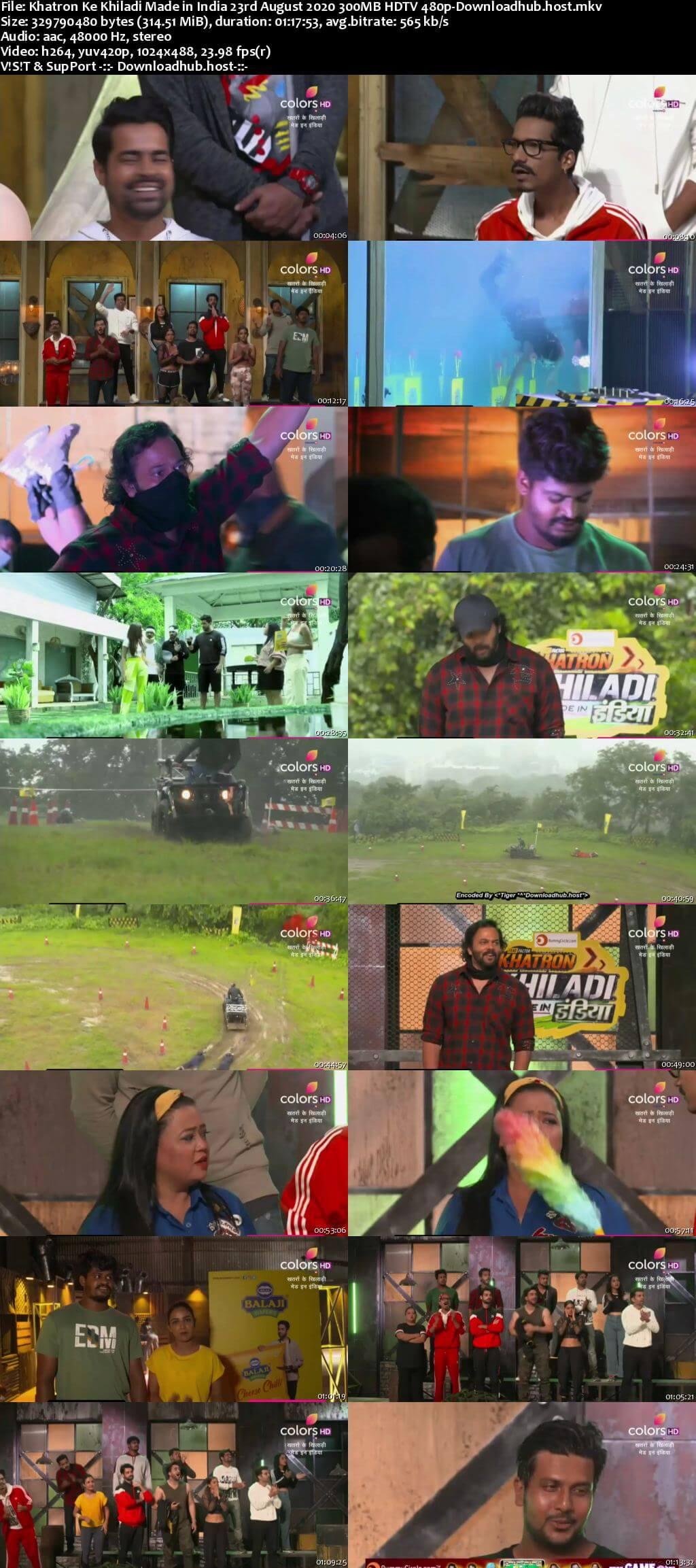 Khatron Ke Khiladi Made in India 23 August 2020 Episode 08 HDTV 480p