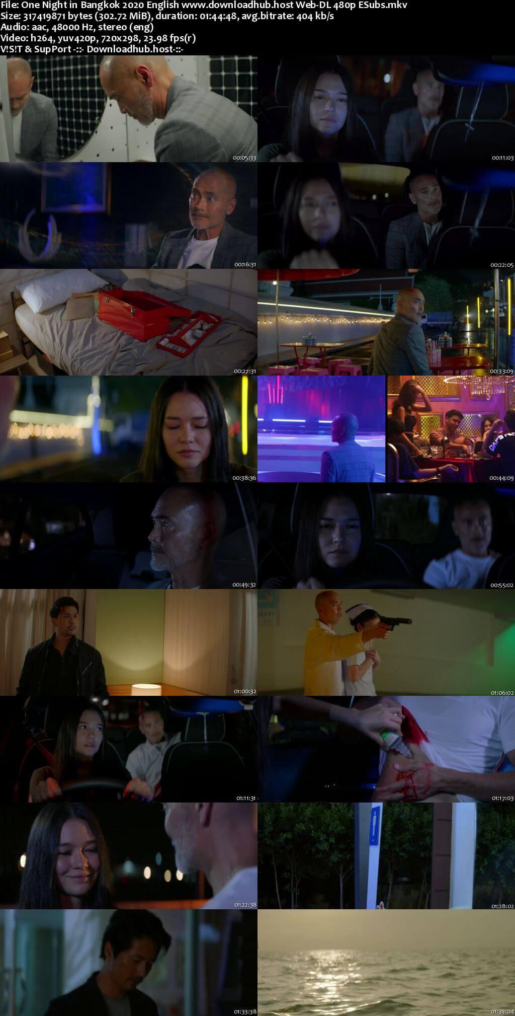 One Night in Bangkok 2020 English 300MB Web-DL 480p ESubs