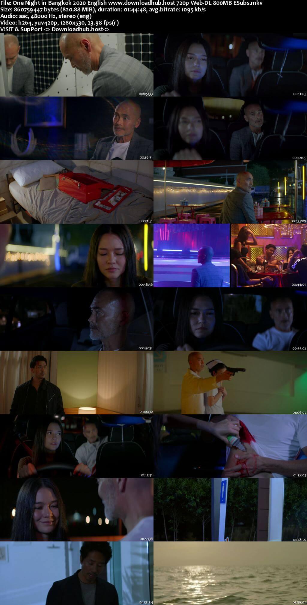 One Night in Bangkok 2020 English 720p Web-DL 800MB ESubs