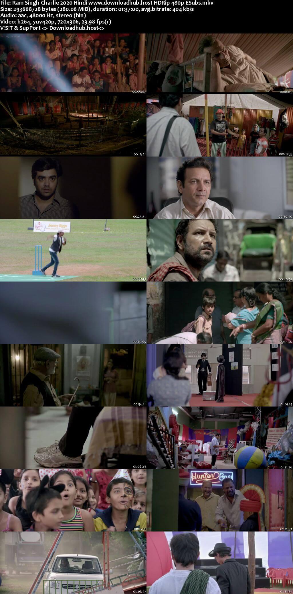 Ram Singh Charlie 2020 Hindi 280MB HDRip 480p ESubs