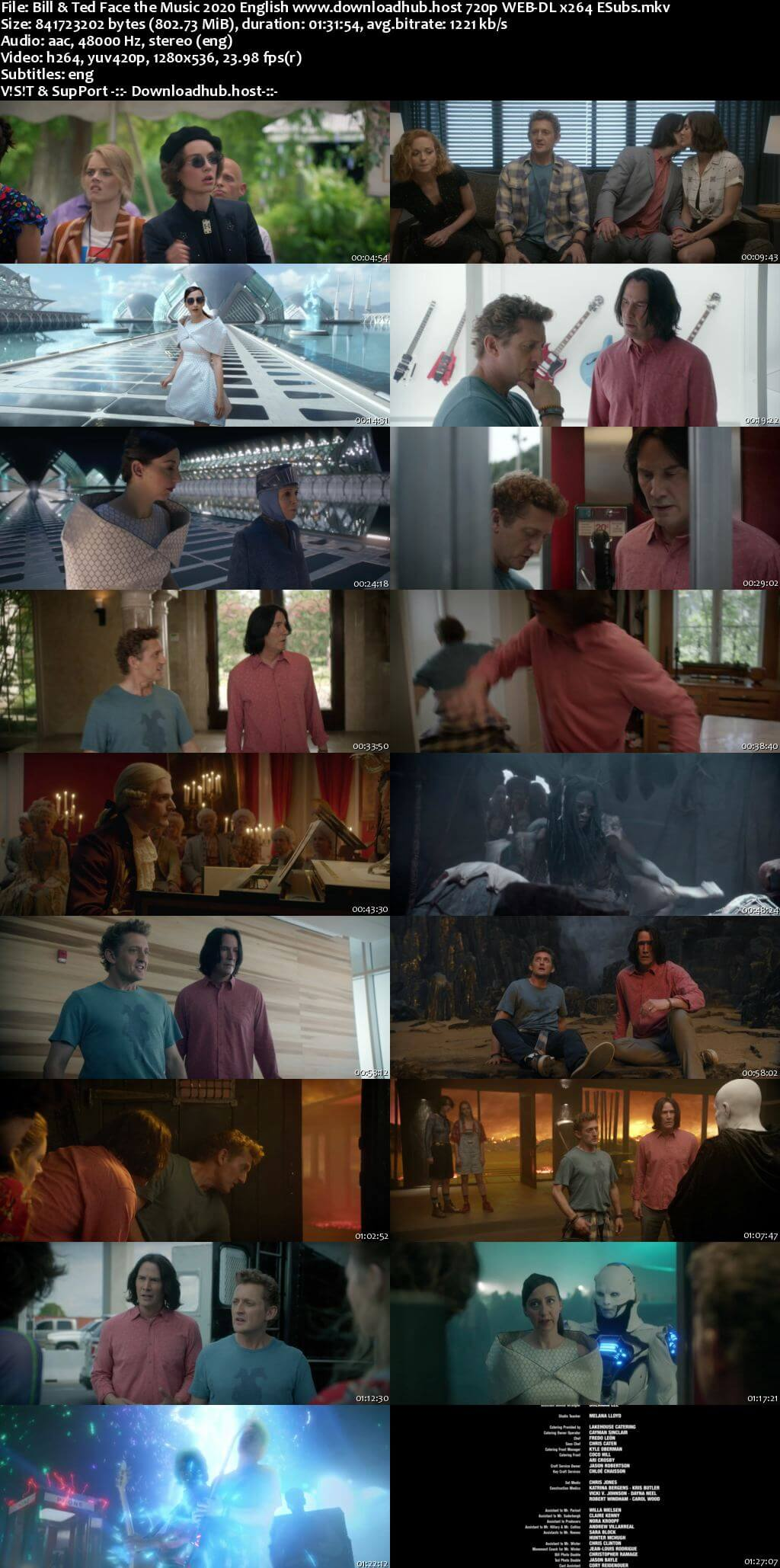 Bill And Ted Face the Music 2020 English 720p Web-DL 800MB ESubs