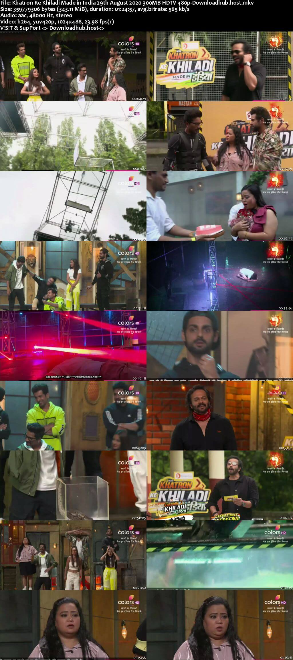 Khatron Ke Khiladi Made in India 29 August 2020 Episode 09 HDTV 480p