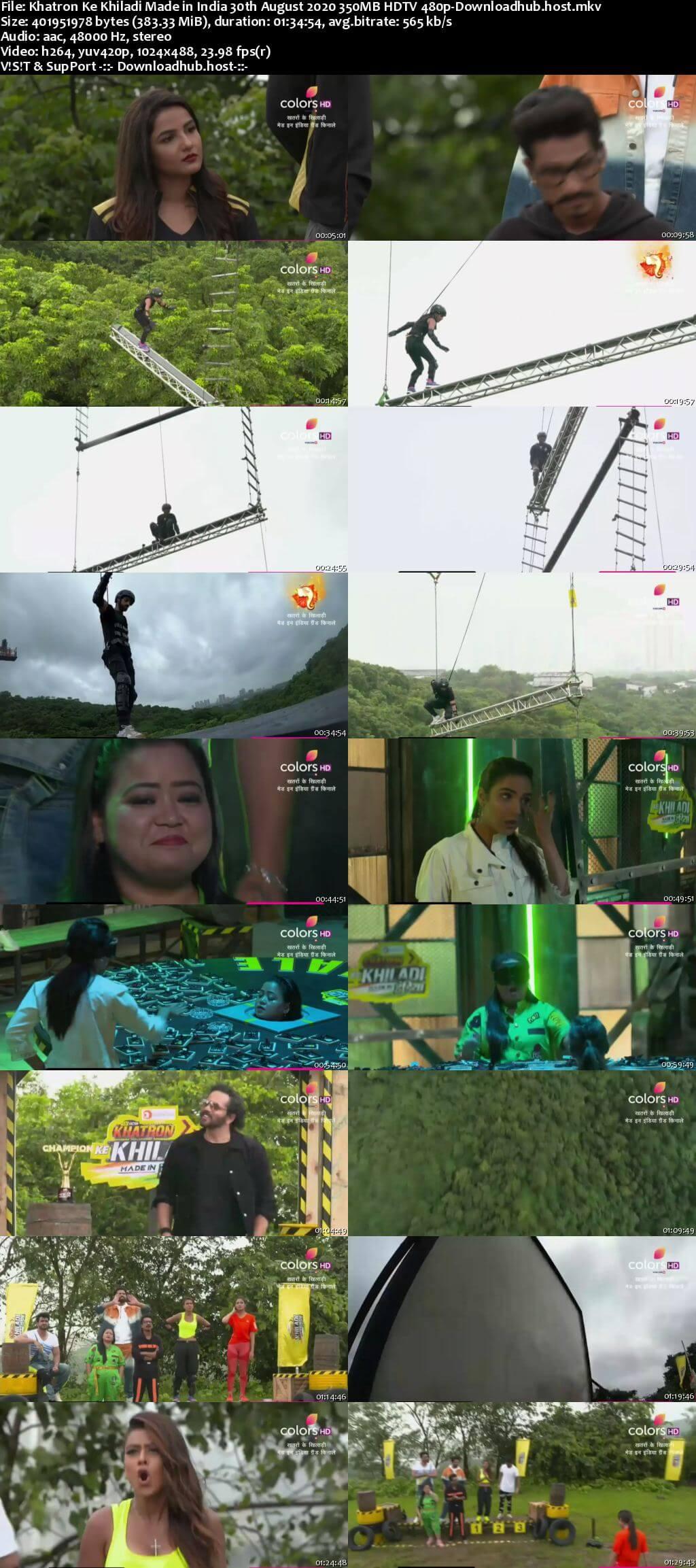 Khatron Ke Khiladi Made in India 30 August 2020 Episode 10 HDTV 480p
