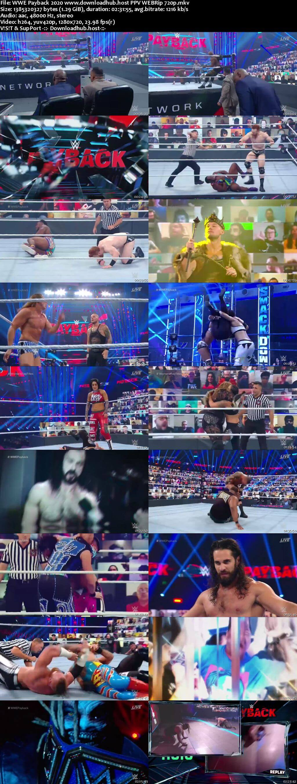WWE Payback 30th August 2020 720p 650MB PPV WEBRip 480p