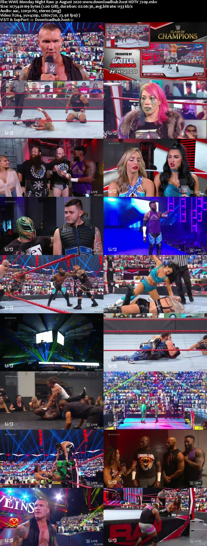 WWE Monday Night Raw 31st August 2020 720p 500MB HDTVRip 480p