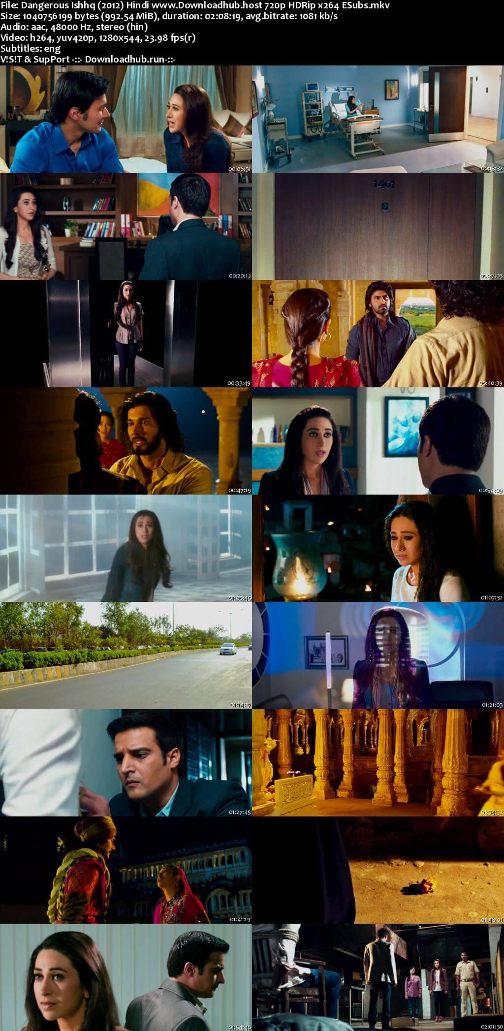 Dangerous Ishhq 2012 Hindi 720p HDRip ESubs