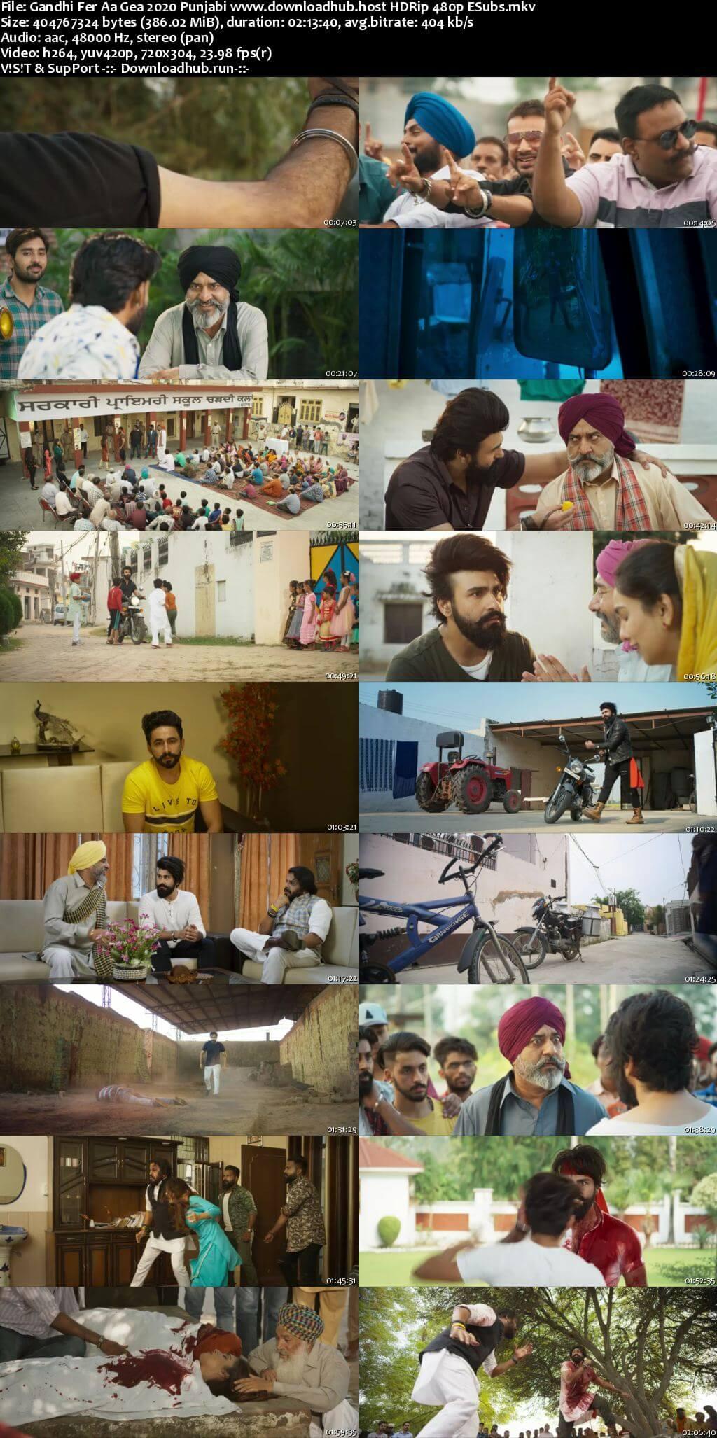 Gandhi Fer Aa Gea 2020 Punjabi 350MB HDRip 480p ESubs