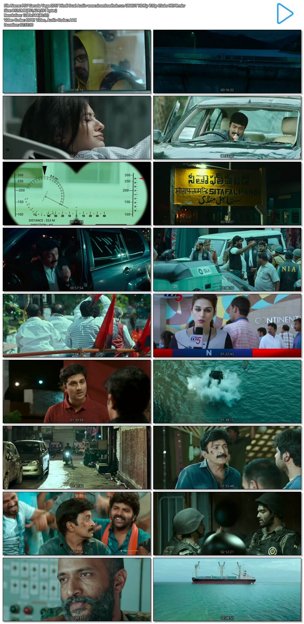 PSV Garuda Vega 2017 Hindi Dual Audio 800MB UNCUT HDRip 720p ESubs HEVC