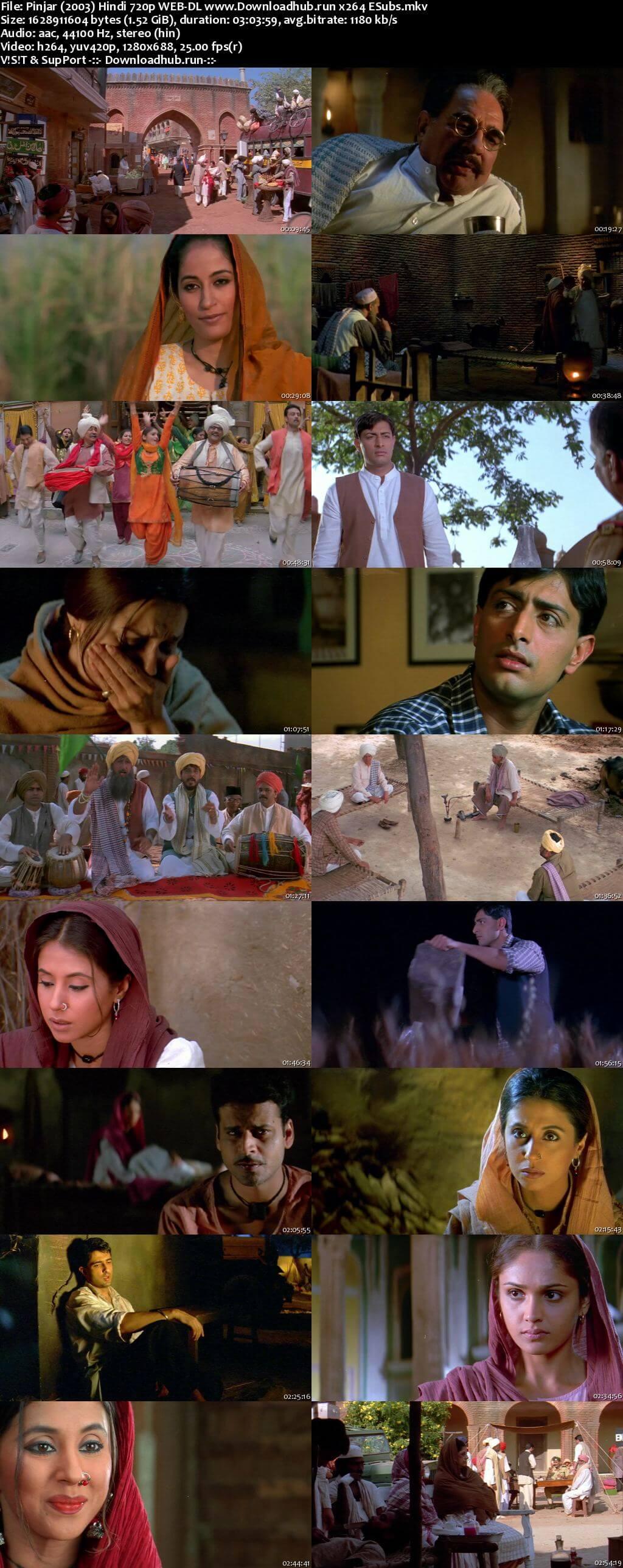 Pinjar 2003 Hindi 720p HDRip ESubs