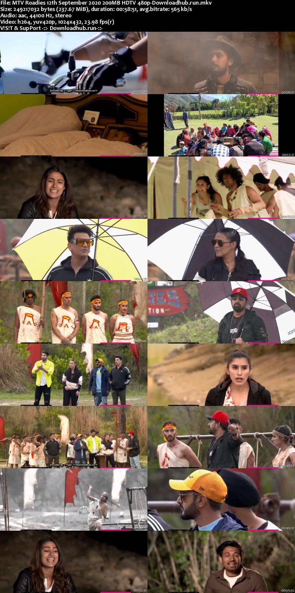 MTV Roadies 12th September 2020 200MB HDTV 480p