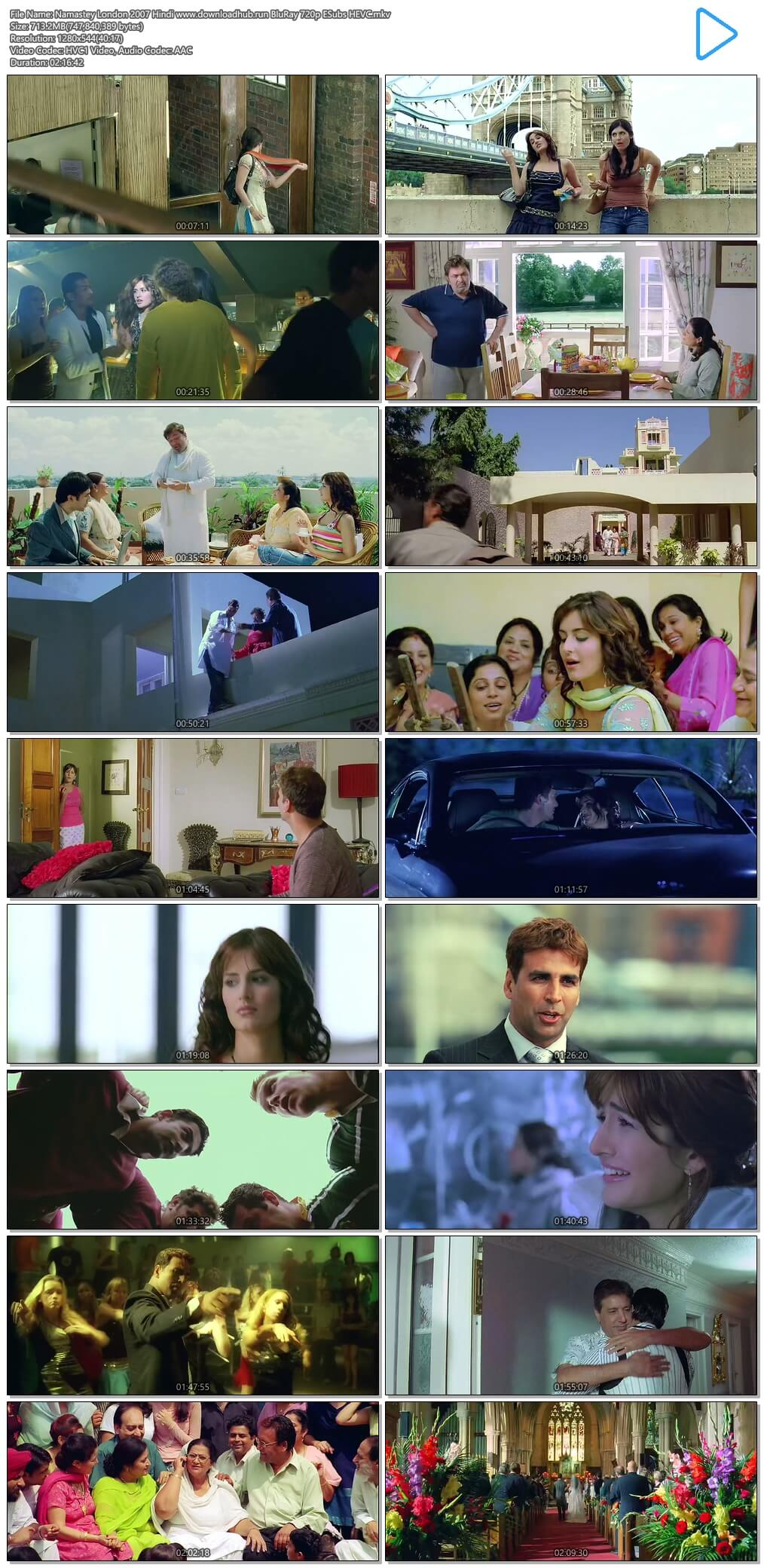 Namastey London 2007 Hindi 700MB BluRay 720p ESubs HEVC