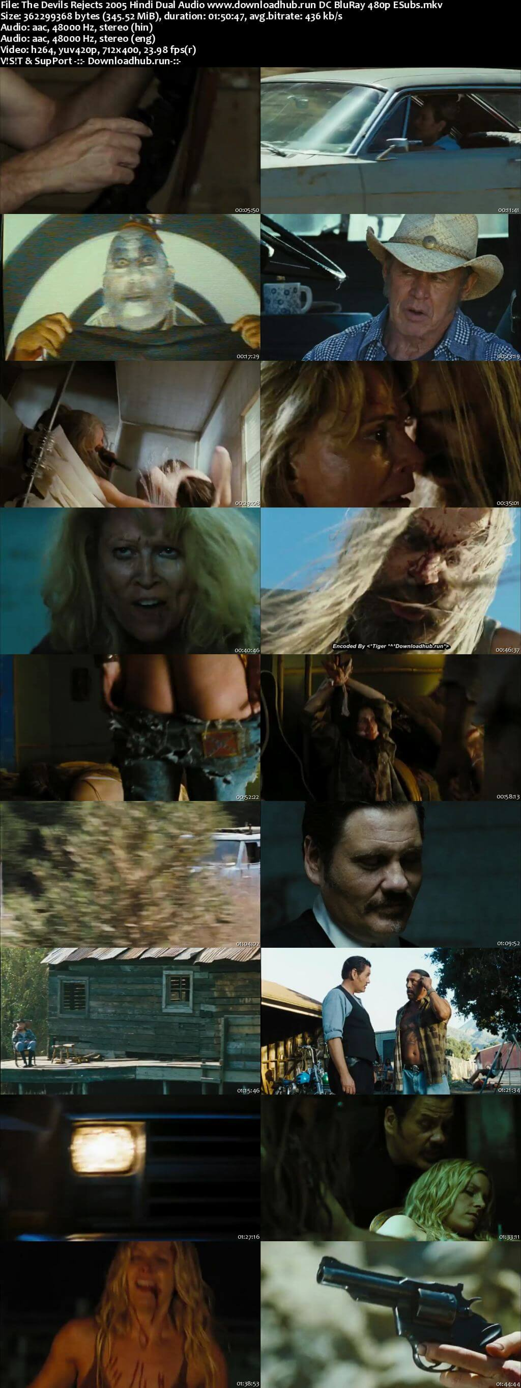 The Devils Rejects 2005 Hindi Dual Audio 350MB DC BluRay 480p ESubs