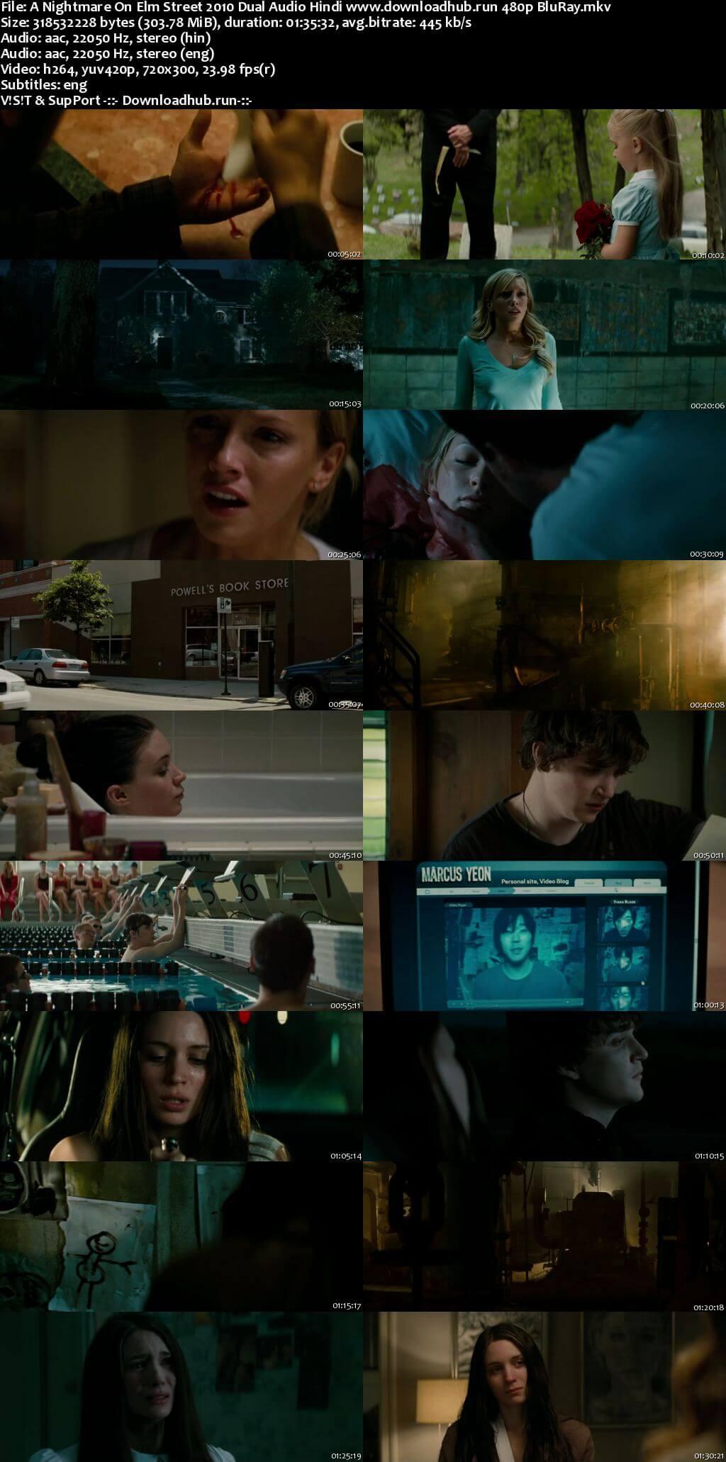 A Nightmare on Elm Street 2010 Hindi Dual Audio 300MB BluRay 480p ESubs