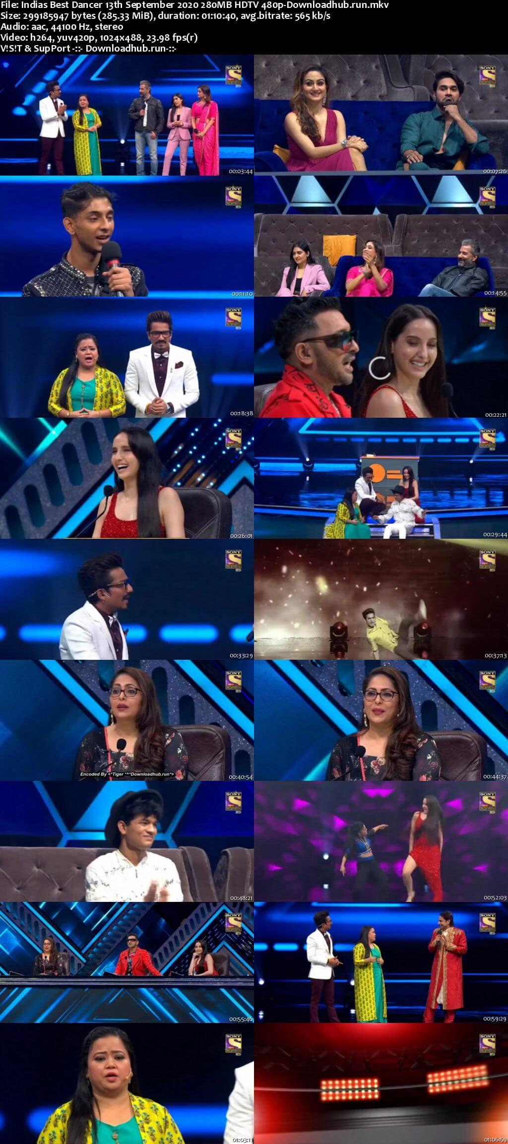Indias Best Dancer 13 September 2020 Episode 28 HDTV 480p