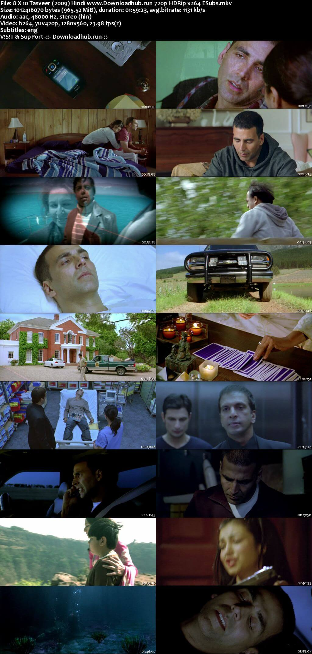 8 x 10 Tasveer 2009 Hindi 720p HDRip ESubs
