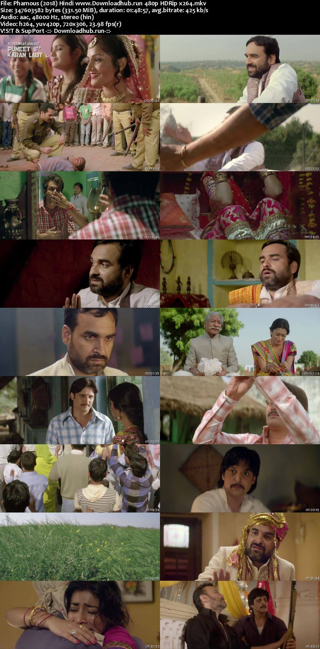 Phamous 2018 Hindi 300MB HDRip 480p