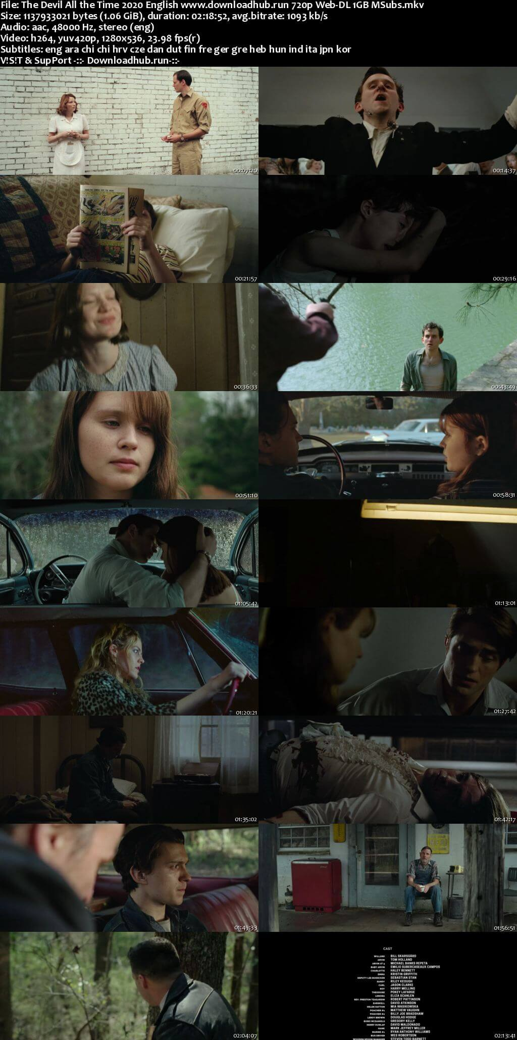 The Devil All the Time 2020 English 720p Web-DL 1GB MSubs