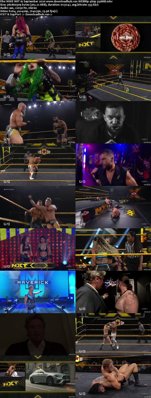 WWE NXT 16th September 2020 350MB HDTV 480p
