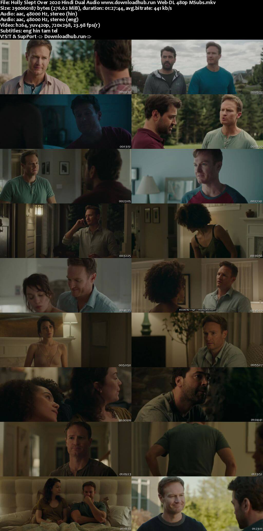 Holly Slept Over 2020 Hindi Dual Audio 280MB Web-DL 480p MSubs