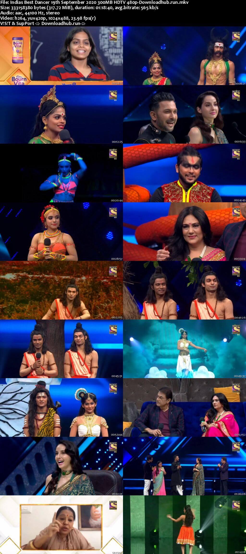 Indias Best Dancer 19 September 2020 Episode 29 HDTV 480p