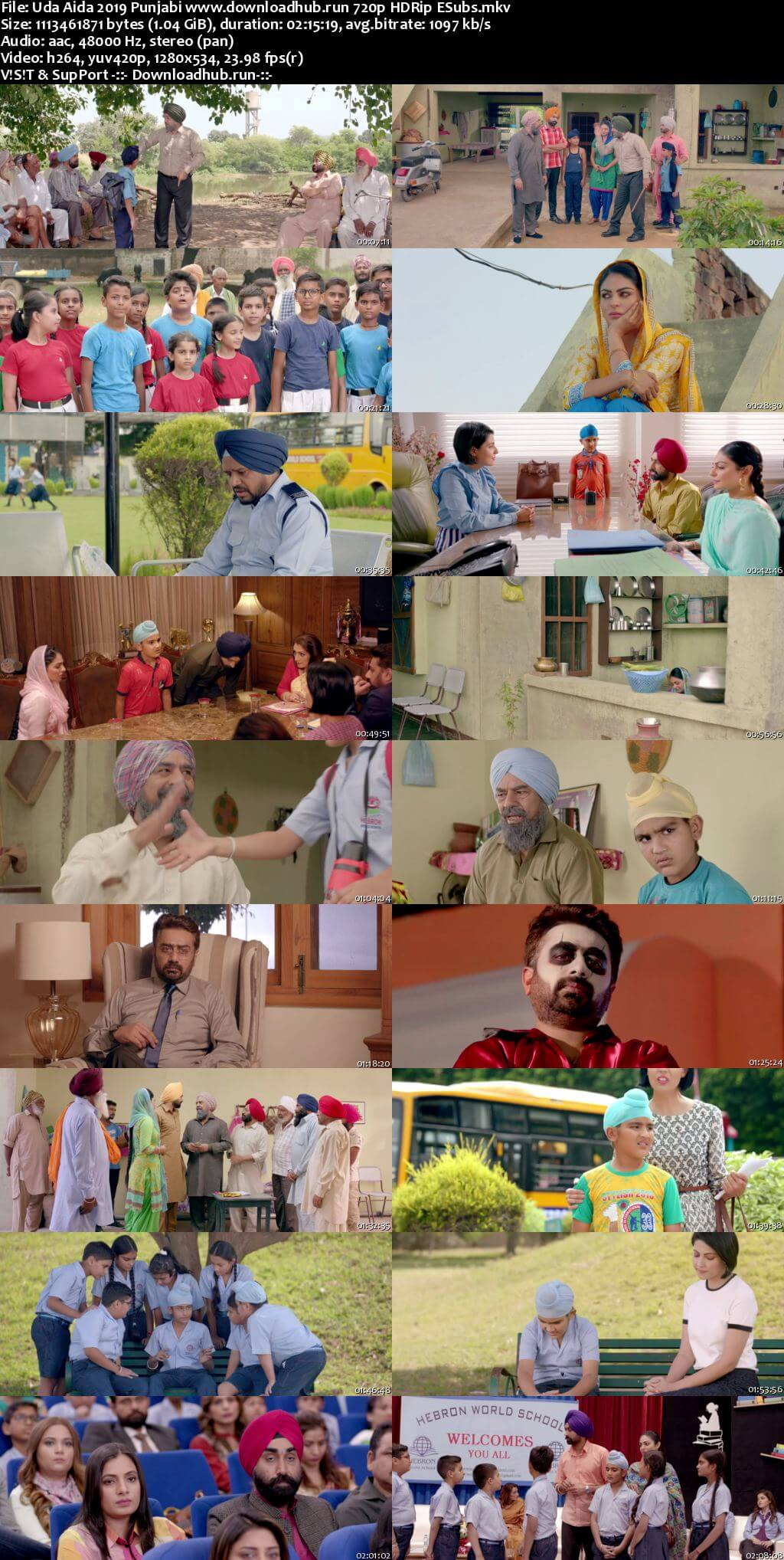 Uda Aida 2019 Punjabi 720p HDRip ESubs