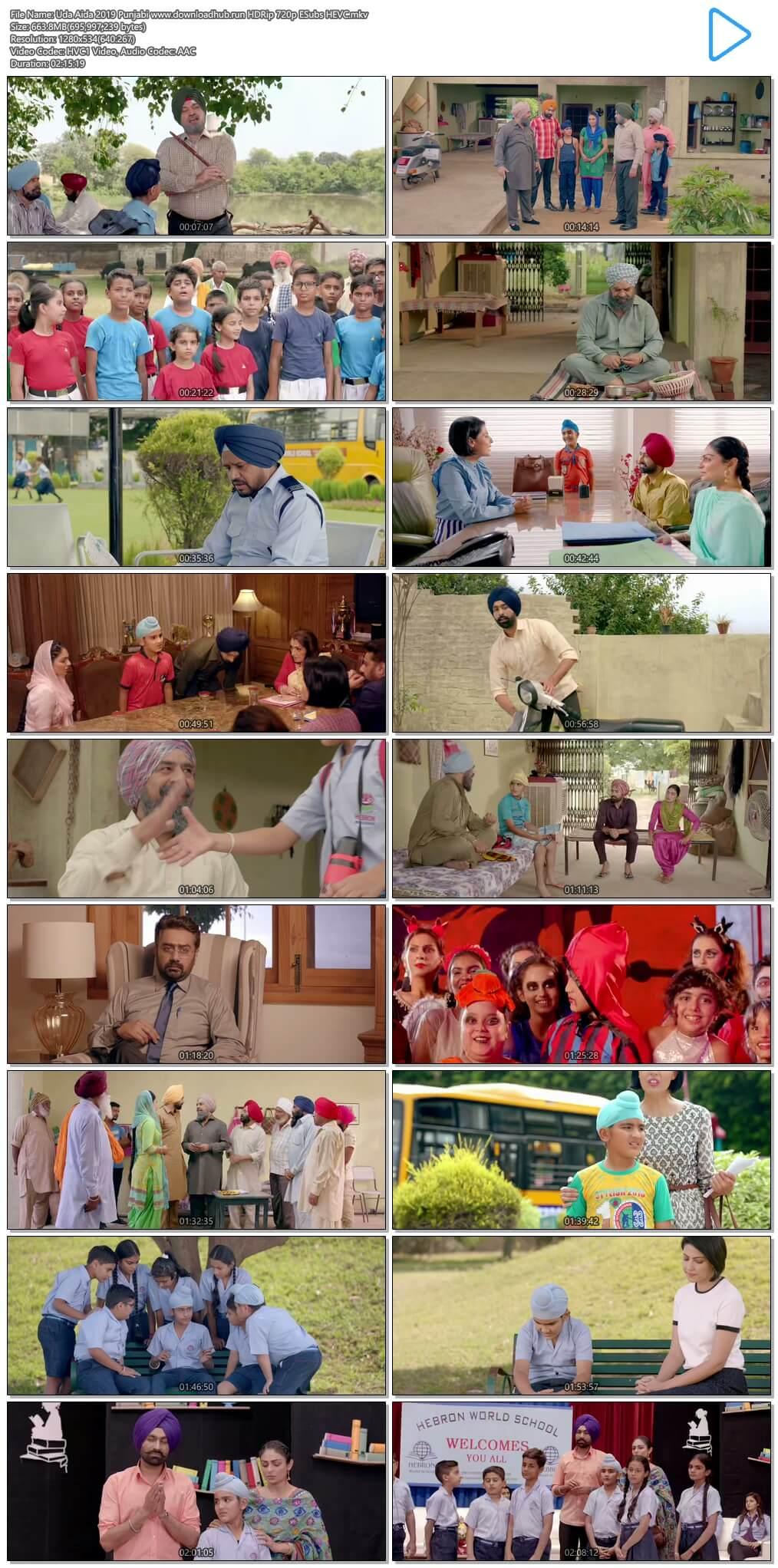 Uda Aida 2019 Punjabi 650MB HDRip 720p ESubs HEVC