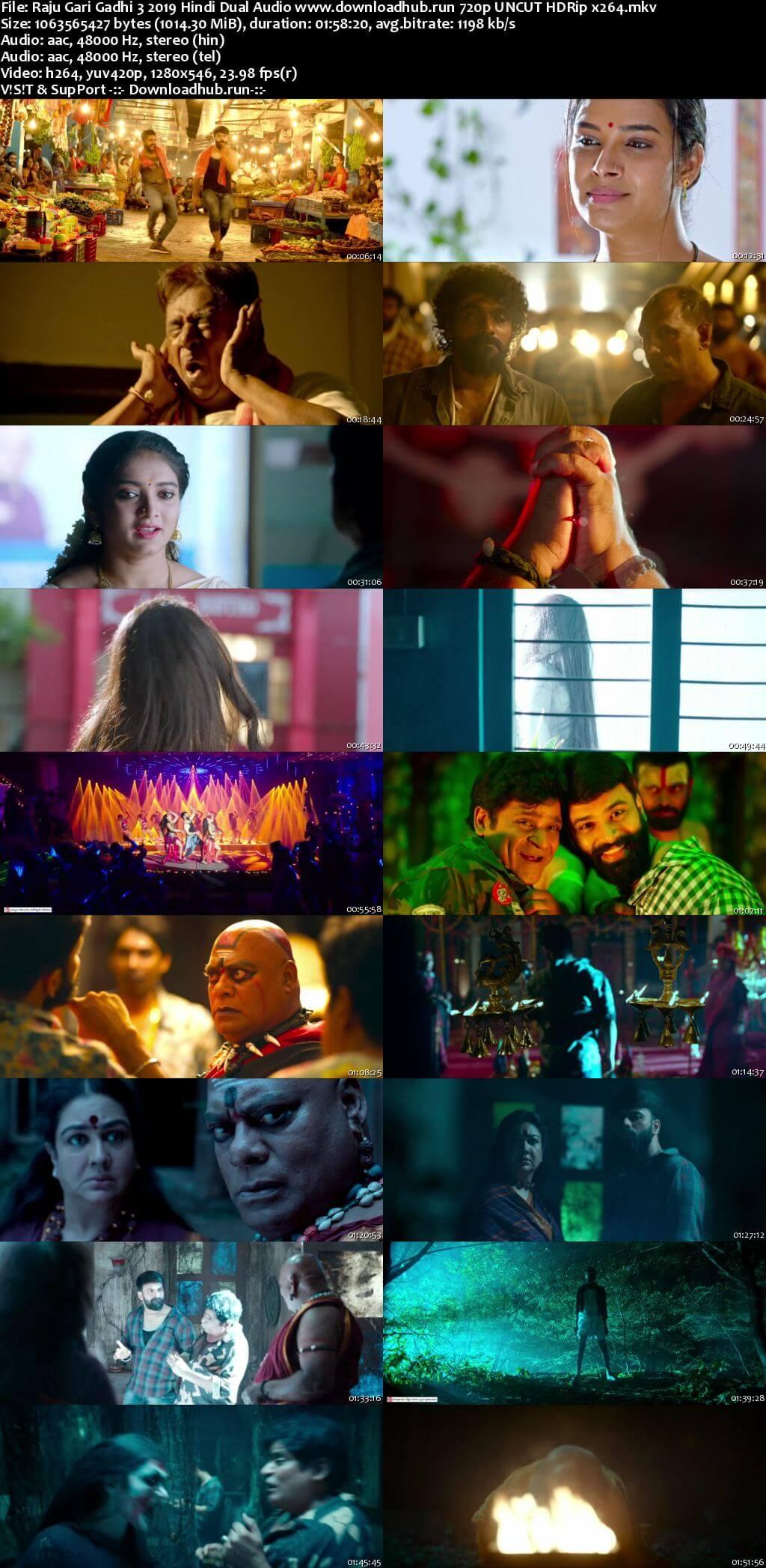 Raju Gari Gadhi 3 2019 Hindi Dual Audio 720p UNCUT HDRip x264