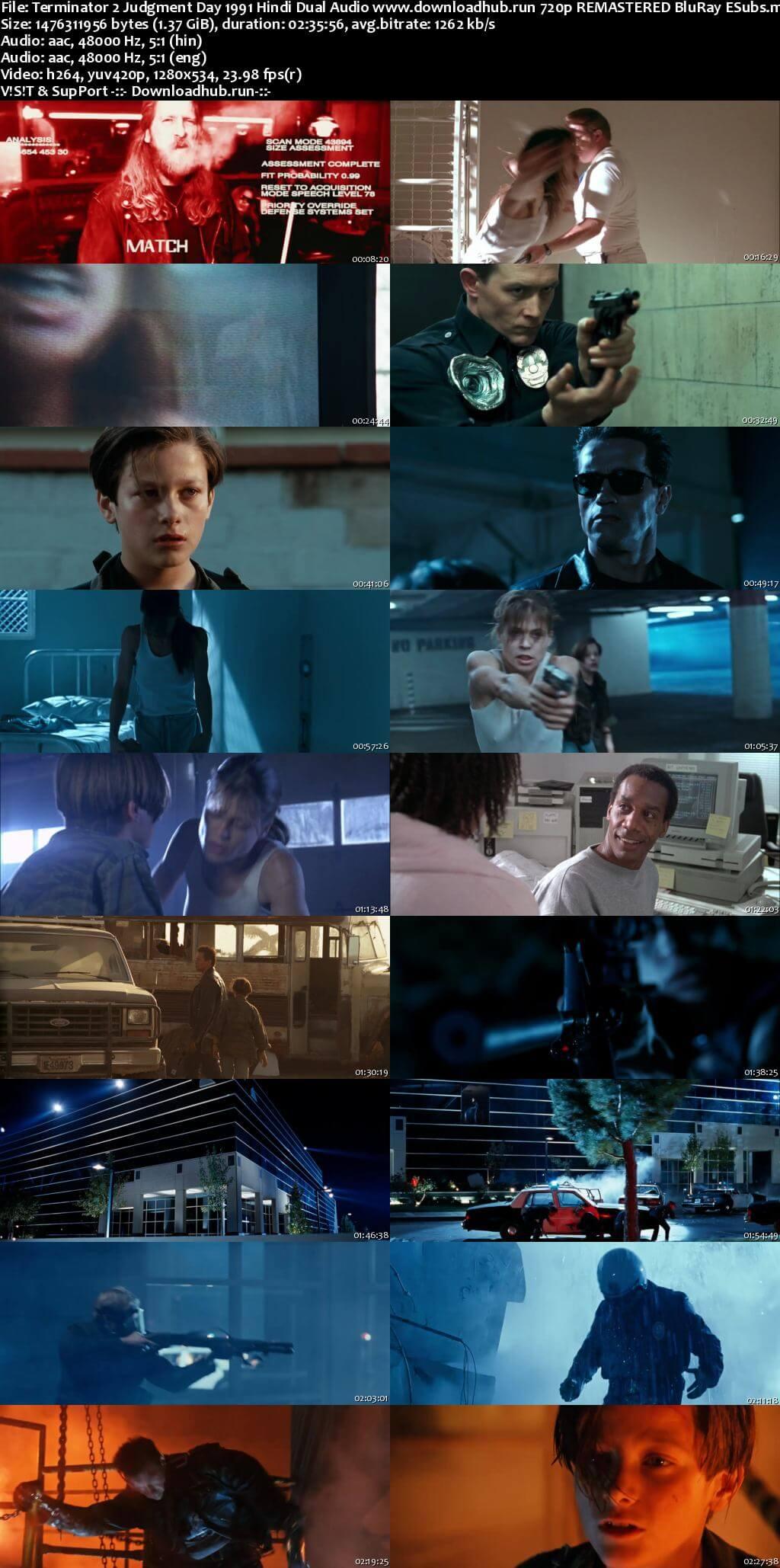 Terminator 2 Judgment Day 1991 Hindi Dual Audio 720p REMASTERED BluRay ESubs