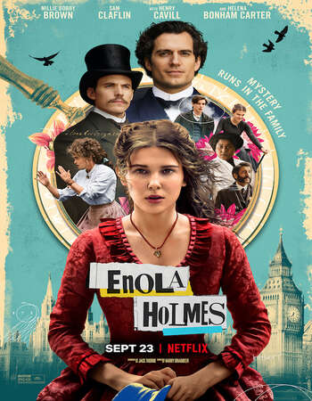 Enola Holmes 2020 Hindi Dual Audio 600MB Web-DL 720p ESubs HEVC