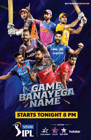 Watch IPL 2020 Kolkata Knight Riders VS Royal Challengers Bangalore [Hindi LIVE STREAMING HD]