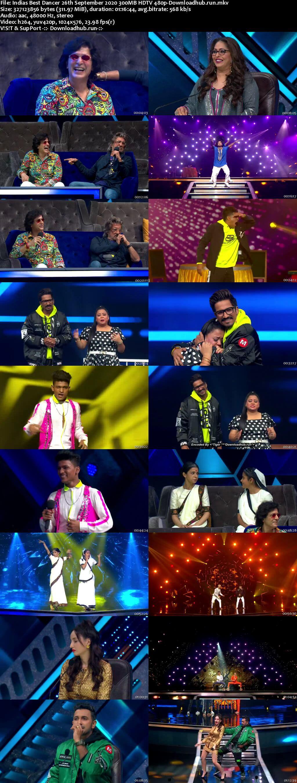 Indias Best Dancer 26 September 2020 Episode 31 HDTV 480p