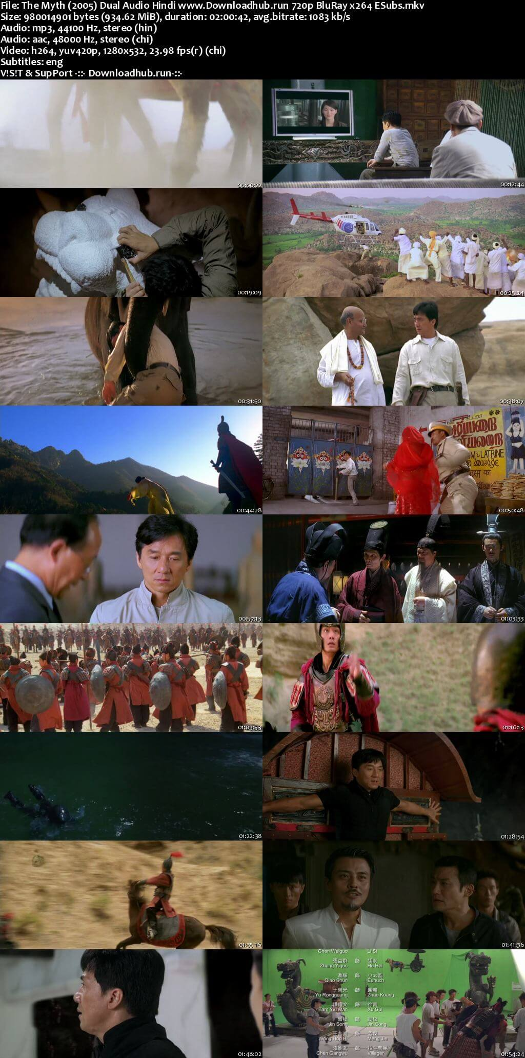 The Myth 2005 Hindi Dual Audio 720p BluRay ESubs