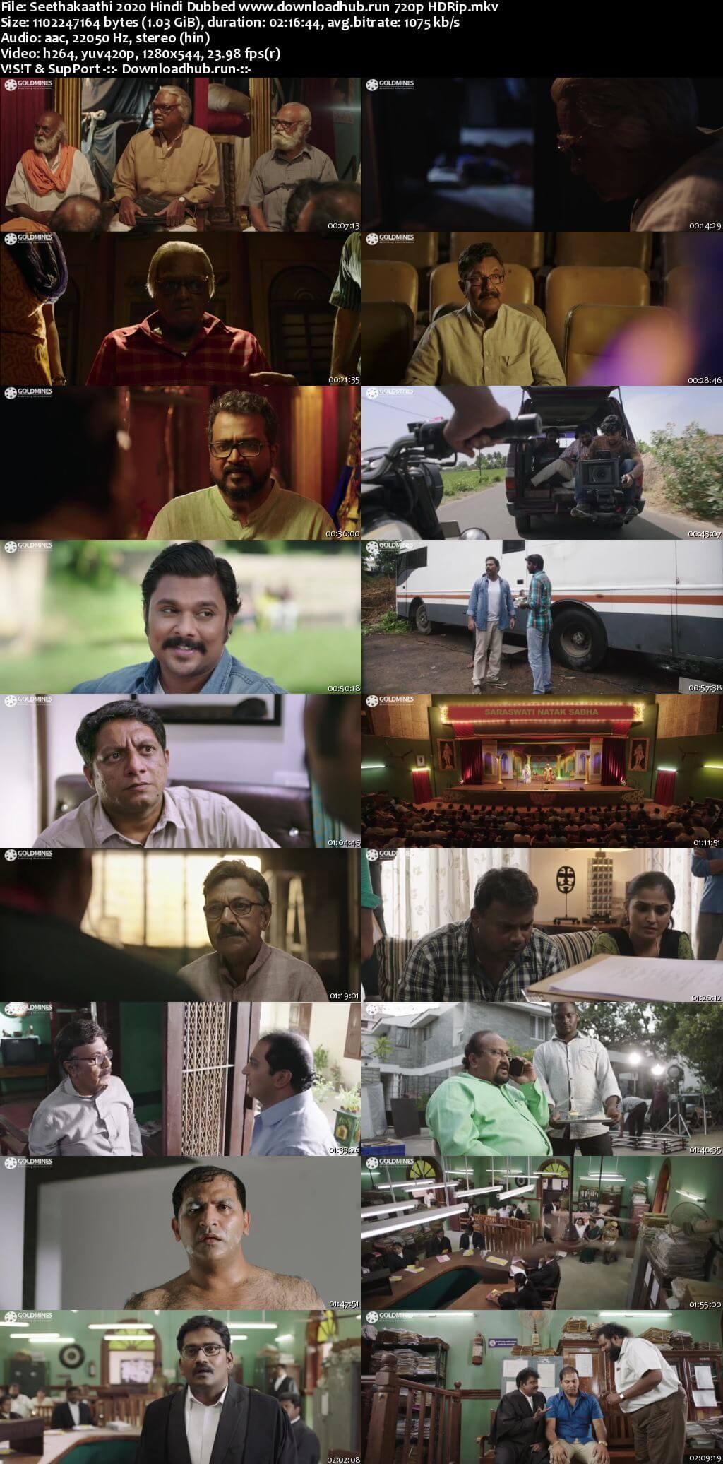 Seethakaathi 2020 Hindi Dubbed 720p HDRip x264