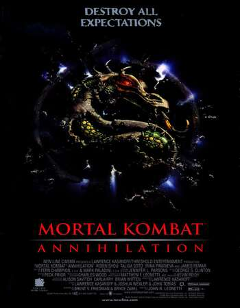 Mortal Kombat Annihilation 1997 Hindi Dual Audio 300MB BluRay 480p ESubs