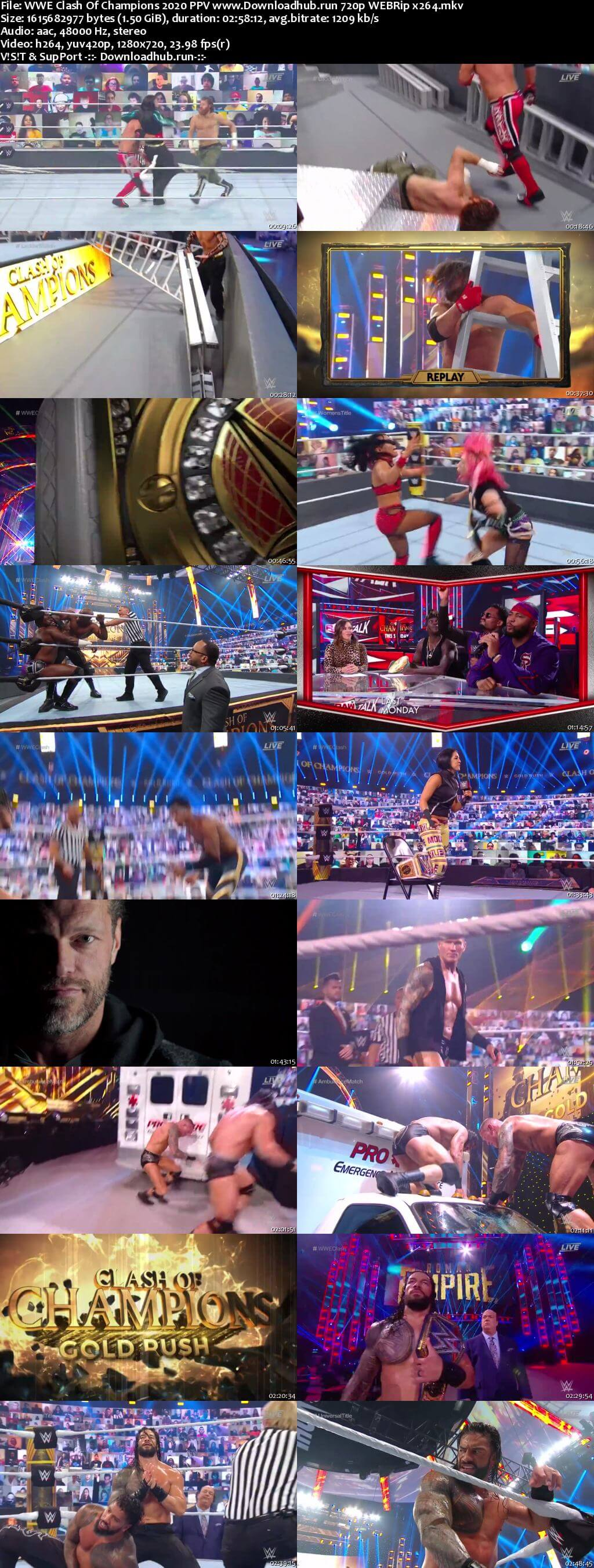 WWE Clash Of Champions 27th September 2020 720p 750MB PPV WEBRip 480p