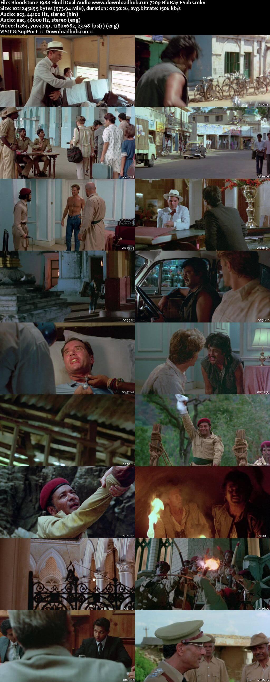 Bloodstone 1988 Hindi Dual Audio 720p BluRay ESubs
