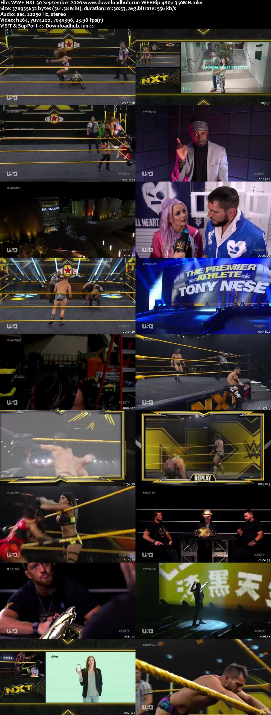 WWE NXT 30th September 2020 350MB HDTV 480p