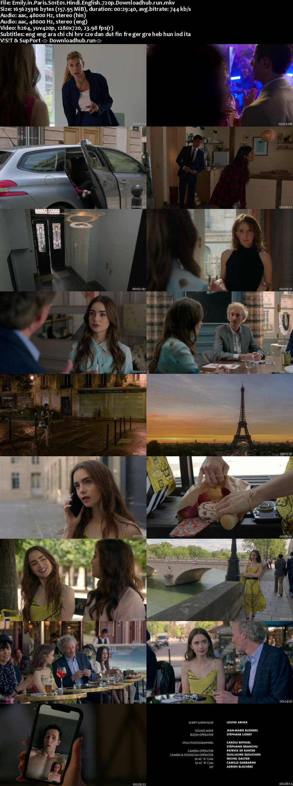 Emily in Paris 2020 S01 Complete Hindi Dual Audio 720p Web-DL MSubs