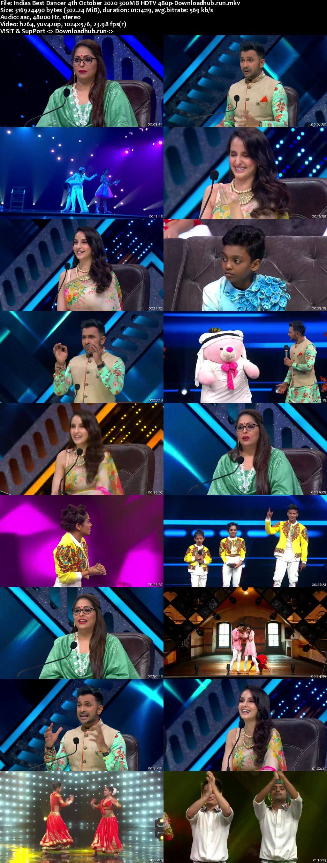 Indias Best Dancer 04 October 2020 Episode 34 HDTV 480p