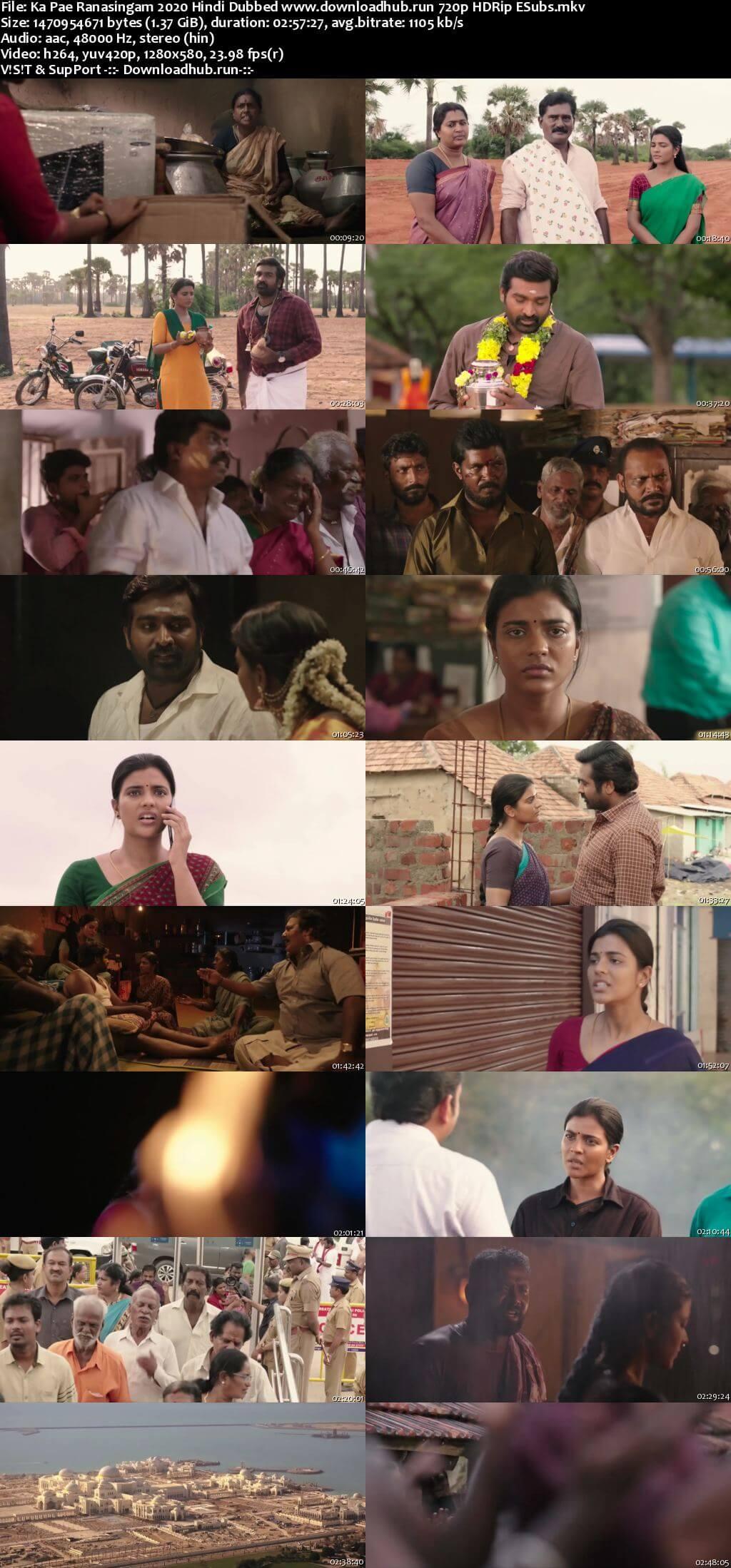 Ka Pae Ranasingam 2020 Hindi Dubbed 720p HDRip ESubs