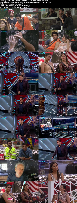 Bigg Boss 14 10th October 2020 Episode 07 720p 480p HDTV