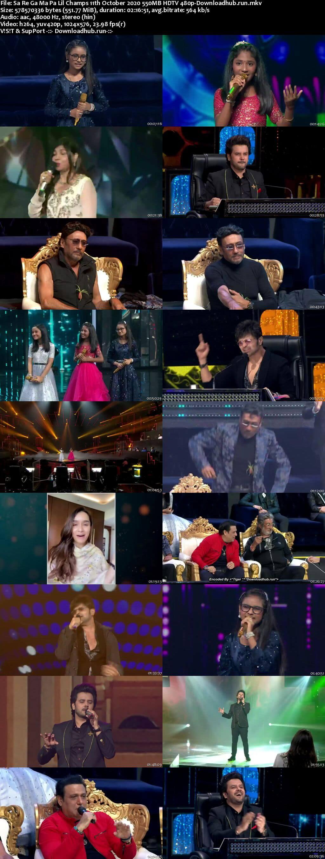 Sa Re Ga Ma Pa Lil Champs 11 October 2020 Episode 34 HDTV 480p