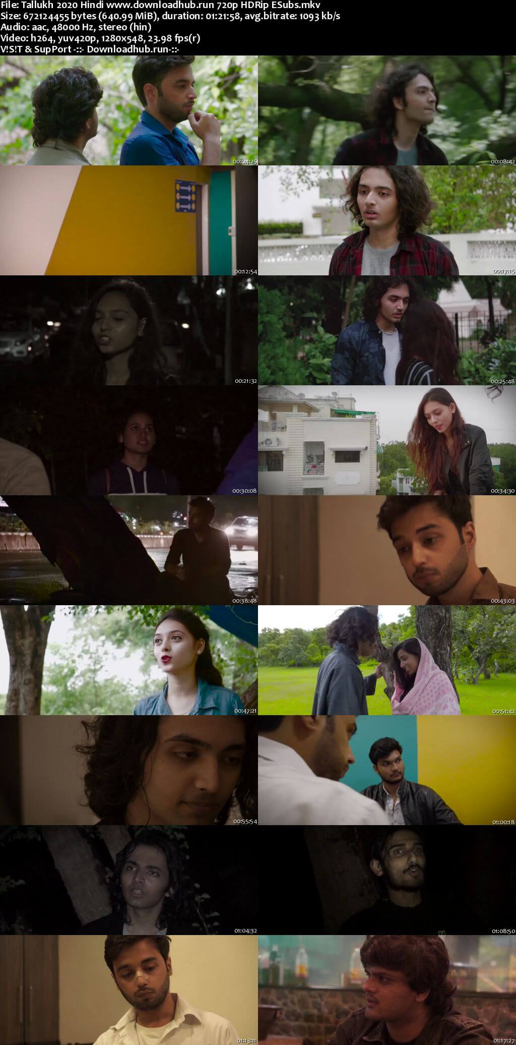 Tallukh 2020 Hindi 720p HDRip ESubs